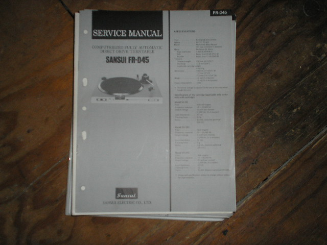 FR-D45 Turntable Service Manual