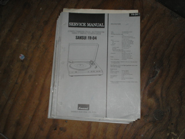 FR-D4 Turntable Service Manual