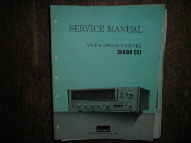551 Receiver Service Manual