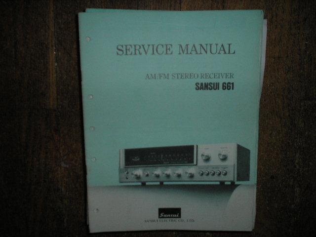 661 Receiver Service Manual