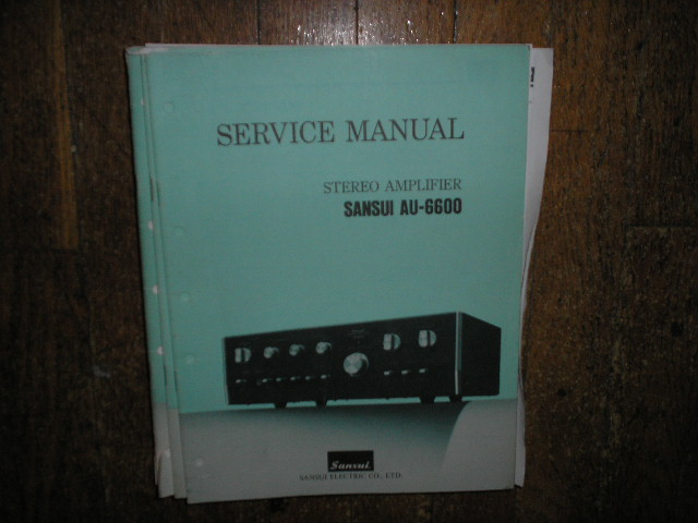 AU-6600 Amplifier Service Manual