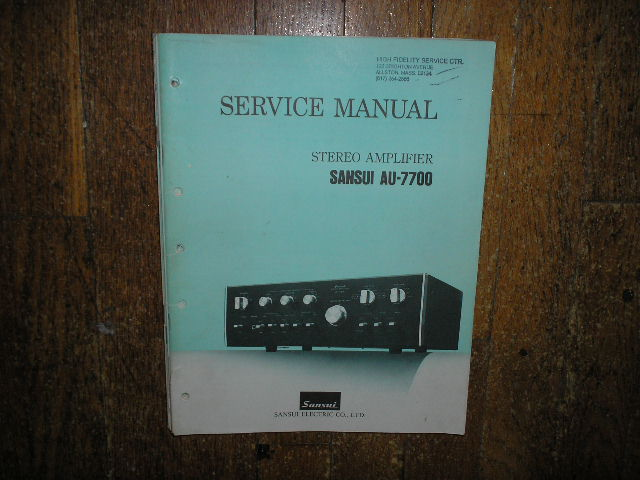 AU-7700 Amplifier Service Manual