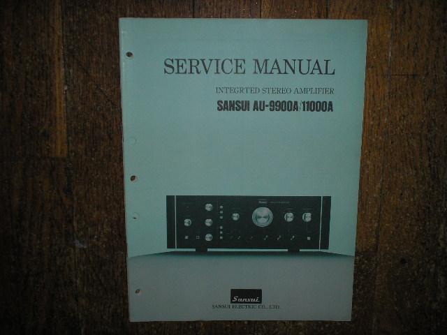 AU-9900A AU-11000A Amplifier Service Manual