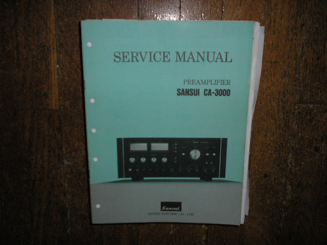 CA-3000 Pre-Amplifier Service Manual