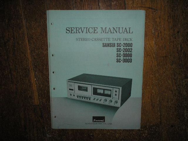 SC-2000 SC-2002 SC-3000 SC-3003 Cassette Deck Service Manual