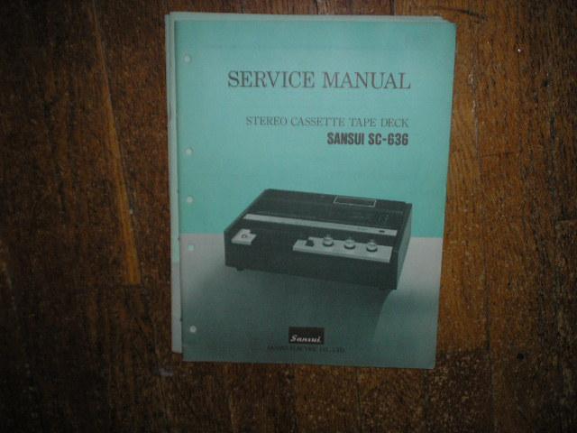 SC-636 Cassette Deck Service Manual