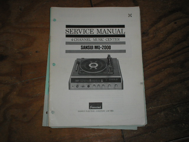 MQ-2000 Music Center Service Manual