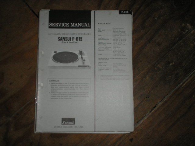 P-D15 Turntable Service Manual