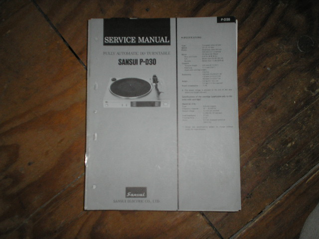 P-D30 Turntable Service Manual