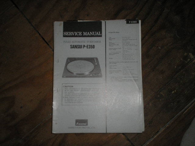 P-E350 Turntable Service Manual