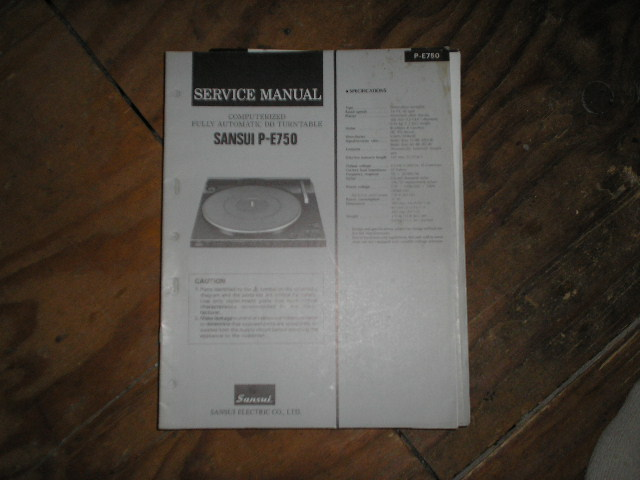 P-E370 Turntable Service Manual