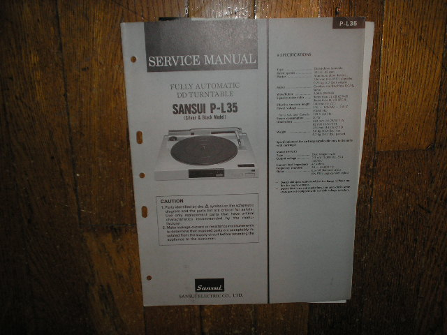 P-L35 Turntable Service Manual