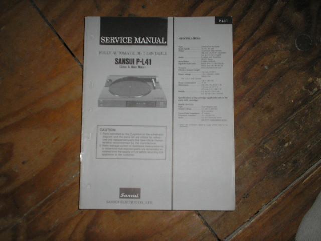 P-L41 Turntable Service Manual