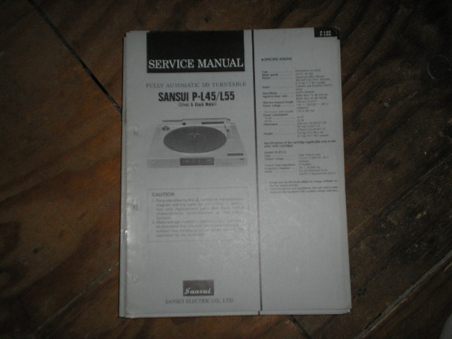 P-L45 P-L55 Turntable Service Manual