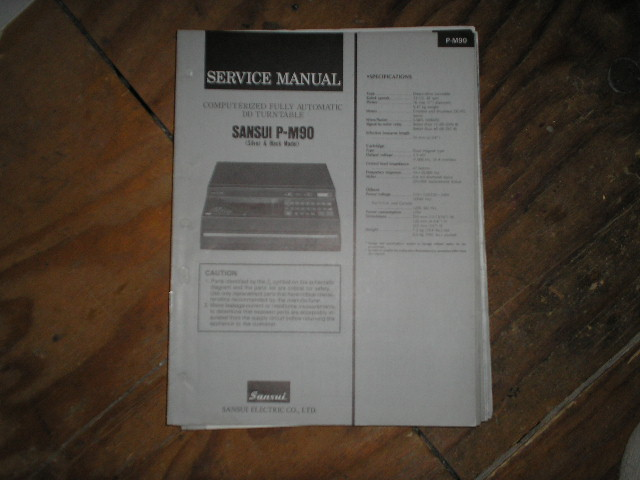 P-M90 Turntable Service Manual