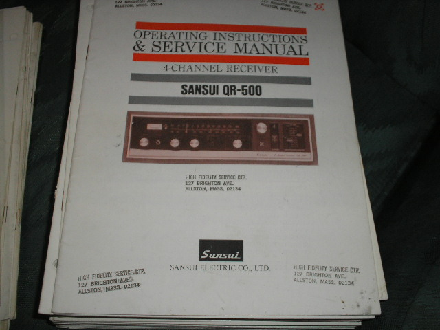 QR-500 Receiver Operating Instruction Service Manual