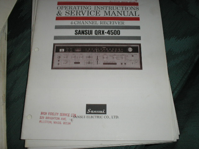 QRX-4500 Receiver Operating Instruction Service Manual
