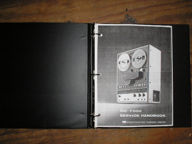 SD-7000 Reel To Reel Service Manual..  WITH 2 LARGE FOLD OUT SCHEMATICS
