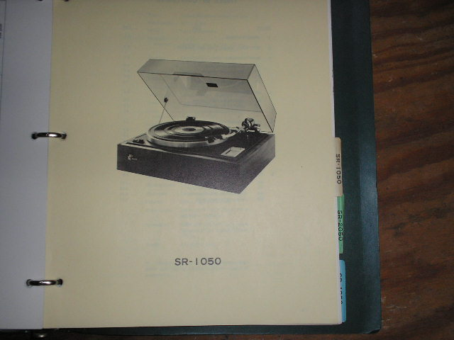SR-1050 Turntable Service Manual from a Turntable Service Binder