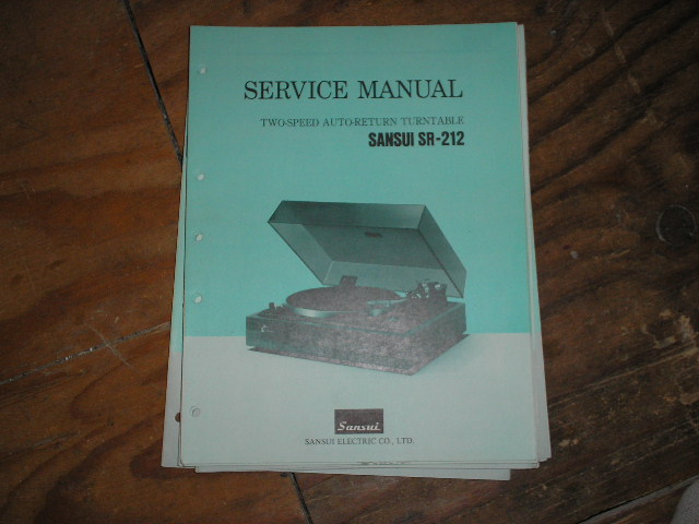 SR-212 Turntable Service Manual
