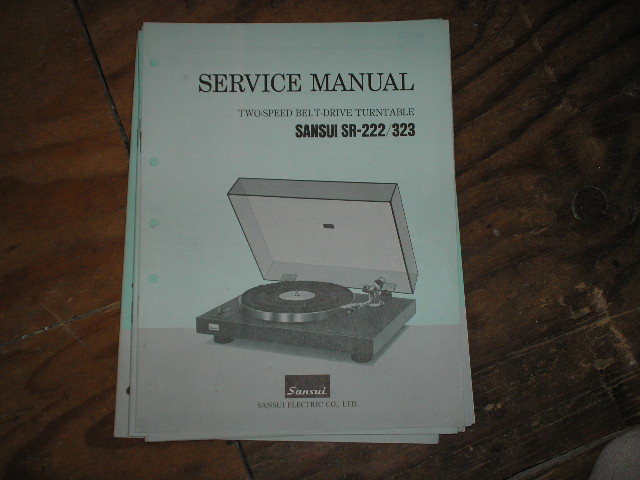SR-222 SR-323 Turntable Service Manual