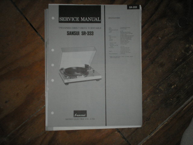 SR-333 Turntable Service Manual