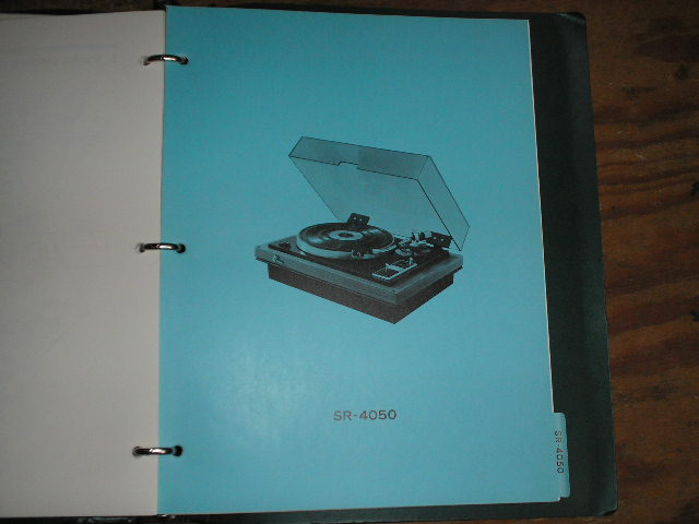 SR-4050 Turntable Service Manual from a Turntable Service Binder