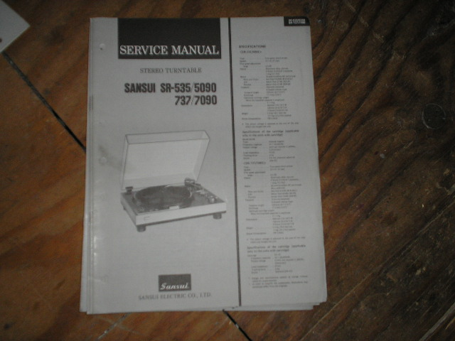 SR-7090 Turntable Service Manual