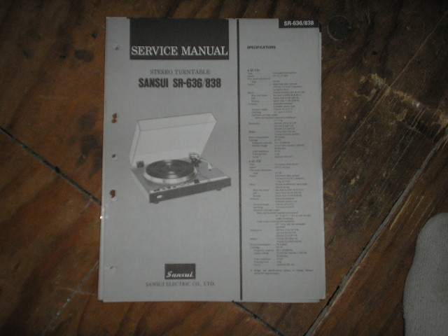 SR-636 SR-838 Turntable Service Manual