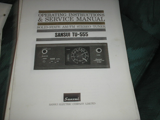 TU-555 Tuner Operating Service Instruction Manual
