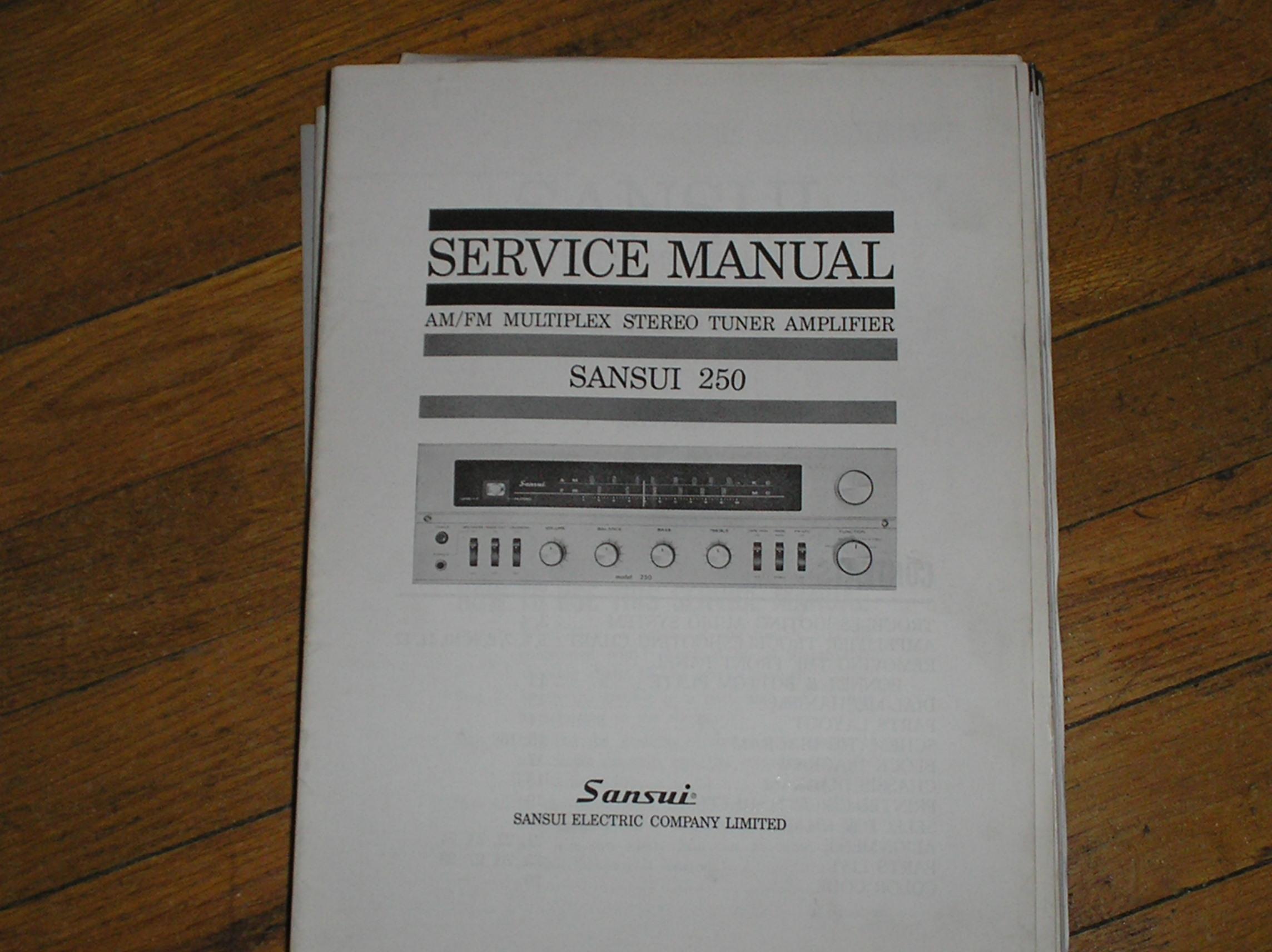 250 Tuner Amplifier Service Manual