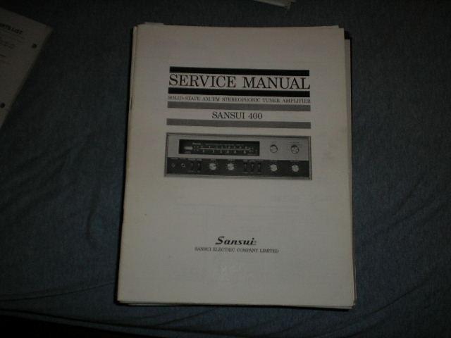 400 Tuner Amplifier Service Manual