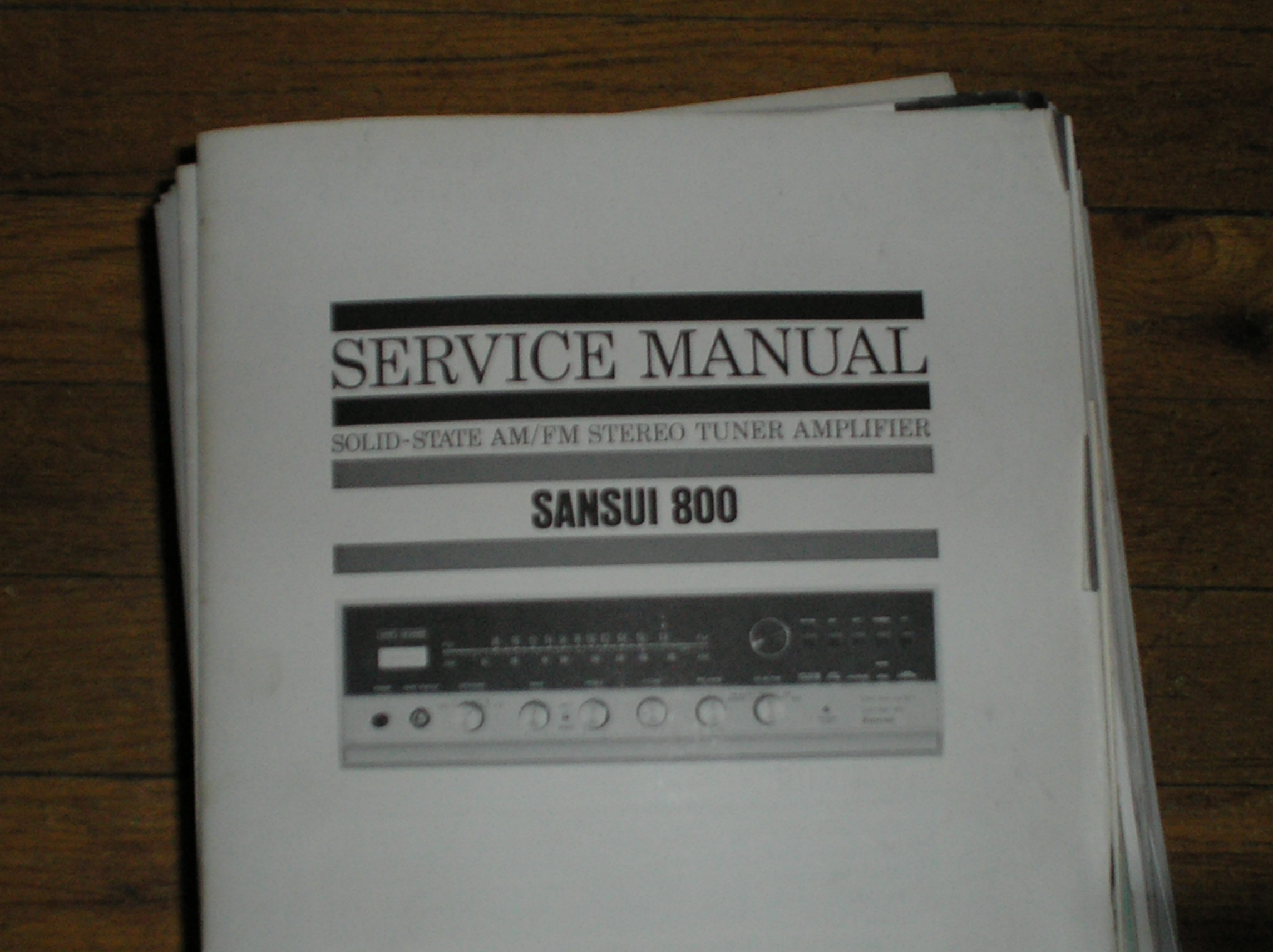 800 AM FM Tuner Amplifier Service Manual
