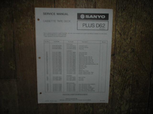 Plus D62 Cassette Deck Service Manual