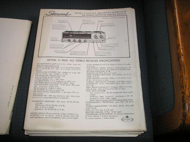 S-7600 Receiver Service Manual Serial NO.A701001-A702102