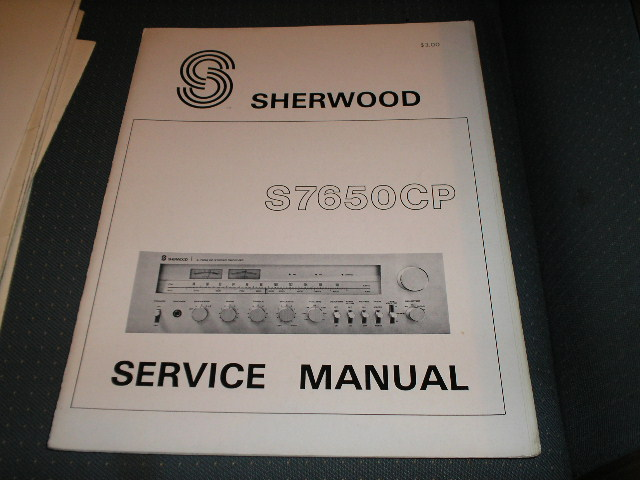 S-7650P Receiver Service Manual Serial No. 765801001 and Up.