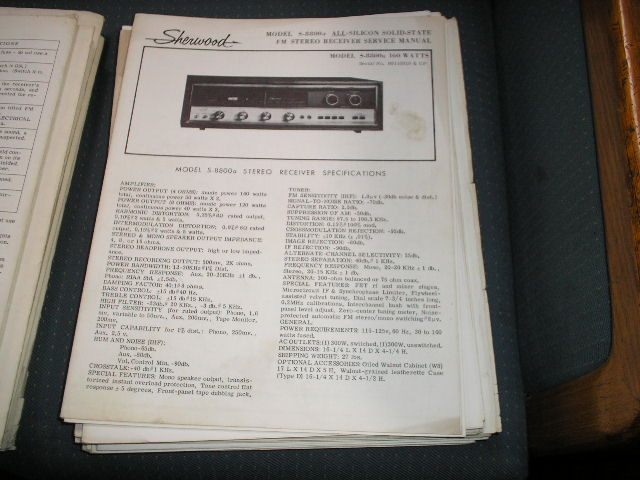 S-8800A Receiver Service Manual for Serial No. 916001 and Up.