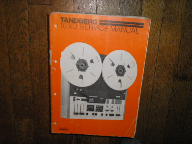 Model 10XD Series 10XD Tape Recorder Service Manual  TANDBERG