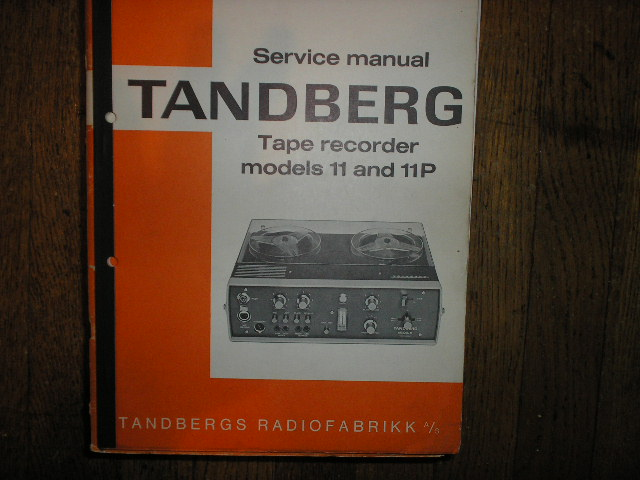Model 11 11P Tape Recorder Service Manual 1  TANDBERG