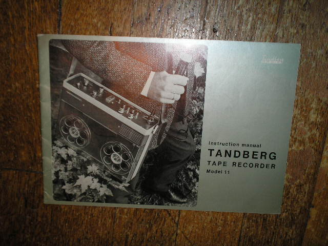 Model 11 Tape Recorder Operating Instruction  Manual 2  TANDBERG