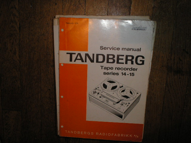 Model 14 15 14X 15X Tape Recorder Service Manual  TANDBERG