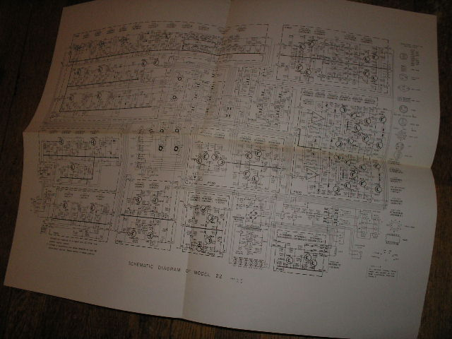Model 22 Schematic Only..  Large Foldout Schematic