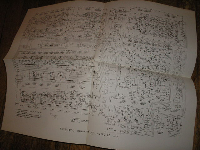 Model 25 Tape Recorder Schematic Only..  Large Foldout Schematic