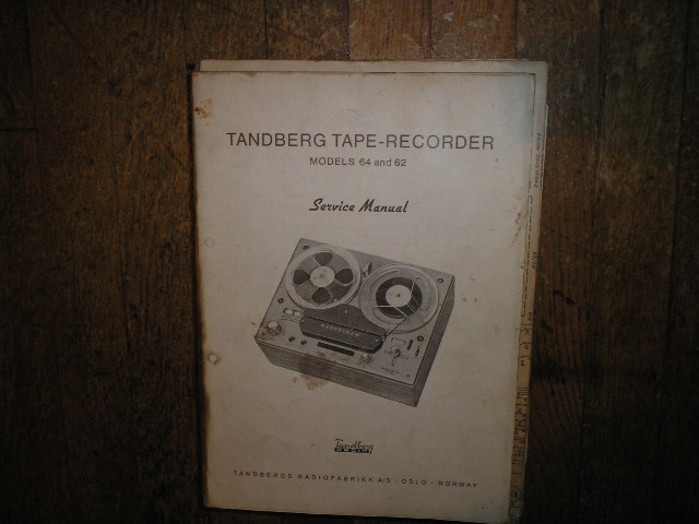 Model 62 64 Tape Recorder Service Manual  TANDBERG