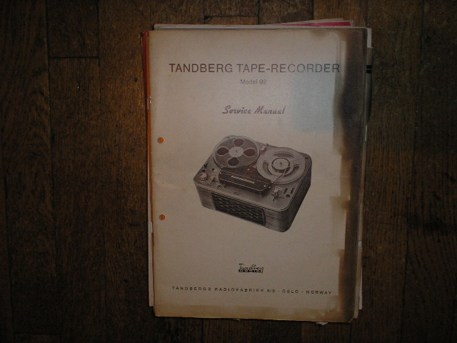 Model 92 Tape Recorder Service Manual