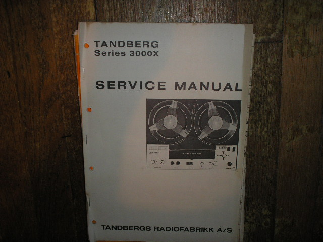 3000X Series Tape Recorder Service Manual  TANDBERG