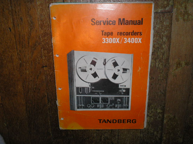 3300X 3400X  Tape Recorder Service Manual  TANDBERG