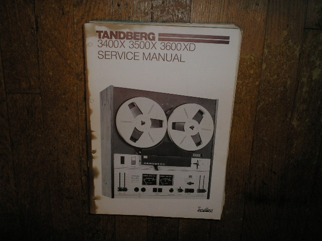 3400X 3500X 3600XD Tape Recorder Service Manual  TANDBERG