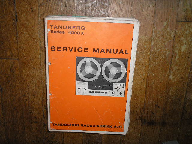 4000X Tape Recorder Service Manual