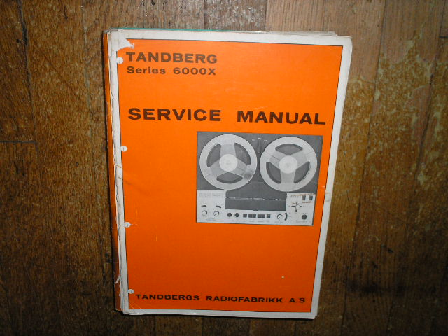 6000X Tape Recorder Service Manual  TANDBERG